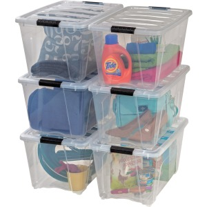 Iris Stackable Clear Storage Boxes