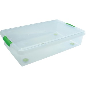 I.R.I.S. Stor N Slide Plastic Stackable 40 Qt. Box