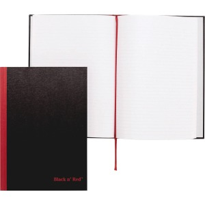Black n' Red Casebound Ruled Notebooks - A4