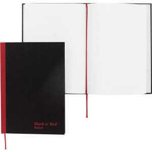 Black n' Red Casebound Ruled Notebooks - A5