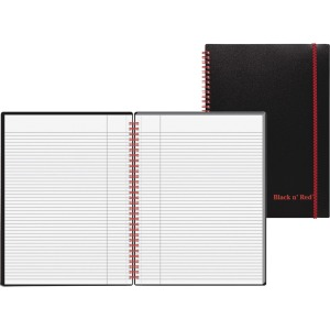 Black n' Red Wirebound Poly Notebook with front Pkt