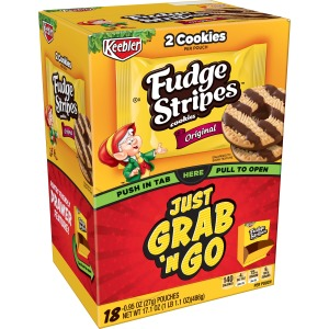 Keebler Fudge Stripe Cookies Grab 'N Go Pouches