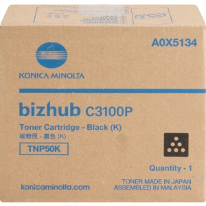 Konica Minolta TNP50K Original Toner Cartridge - Black