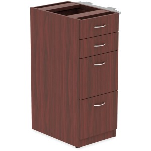 Lorell Relevance Series Mahogany Laminate Office Furniture Storage Cabinet