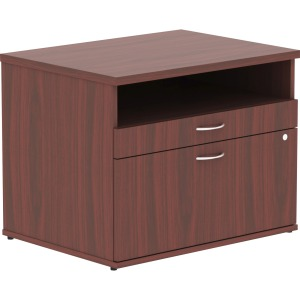 Lorell Relevance Series Mahogany Laminate Office Furniture Credenza