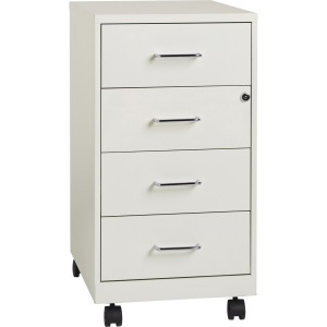 "Lorell 4-drawer 26-1/2"" Mobile Storage Cabinet"