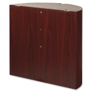 Lorell Modular Mahogany Conference Curved Table Base