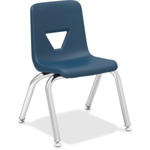 "Lorell 12"" Seat-height Stacking Student Chairs - 4/CT"