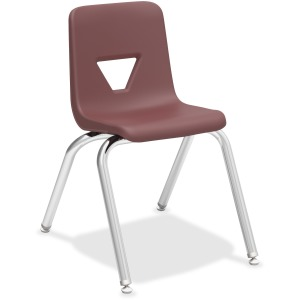 "Lorell 16"" Seat-height Stacking Student Chairs - 4/CT"