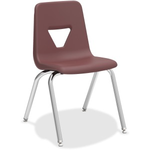 "Lorell 18"" Seat-height Stacking Student Chairs - 4/CT"