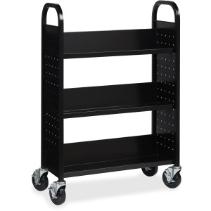 Lorell Single-sided Steel Book Cart