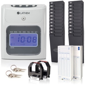 Lathem 400E Top Feed Electronic Time Clock Kit