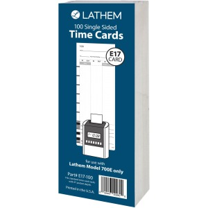 Lathem Model 700E Clock Single Sided Time Cards