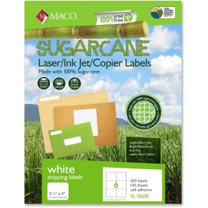 MACO Laser / Ink Jet / Copier Sugarcane Shipping Labels