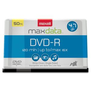 Maxell DVD Recordable Media - DVD-R - 16x - 4.70 GB - 50 Pack Spindle