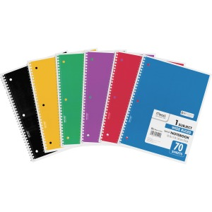Mead Spiral Bound 1-subject Notebooks