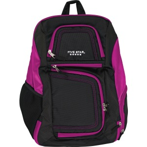 "Mead Carrying Case (Backpack) for 17"" Notebook - Purple, Black"