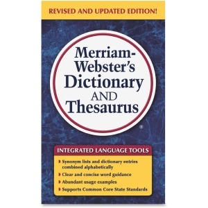 Merriam-Webster Dictionary/Thesaurus Printed Book