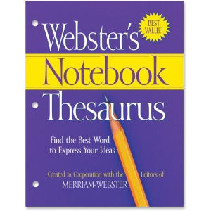 Merriam-Webster Notebook Thesaurus Dictionary Printed Book - English