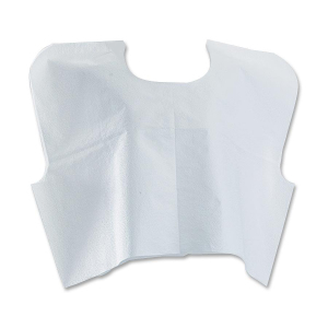 Medline Disposable White Patient Capes