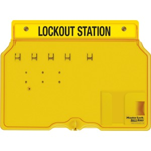 Master Lock Unfilled Padlock Lockout Station with Cover
