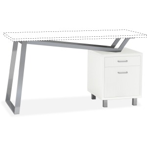 Mayline Laminate 2-Drawer Pedestal V-desk Base
