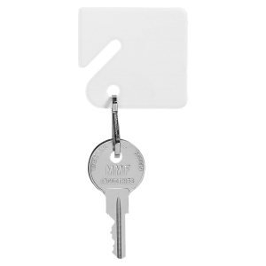 MMF White Plastic Key Tags