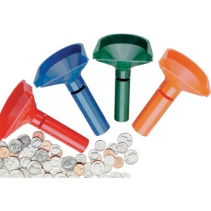 MMF Color-keyed Coin Counting Tube Set