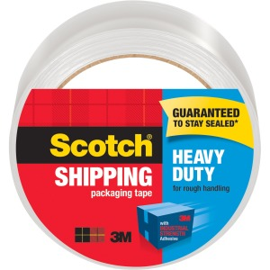 "Scotch® Heavy Duty Shipping Packaging Tape, 1.88"" x 54.6 Yds"