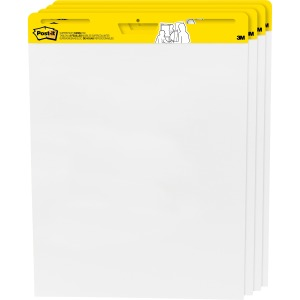 Post-it Self-Stick Easel Pads Value Pack, 25 in x 30 in, White
