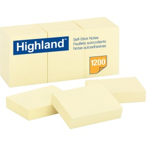 Highland Self-Sticking Notepads