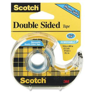 "Scotch Permanent Double-Sided Tape - 1/2""W"