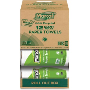 Marcal Giant Paper Towel in a Roll Out Carton