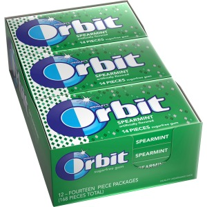 Orbit Spearmint Sugar-free Gum - 12 packs