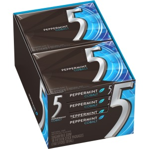 5 Gum Peppermint Cobalt Sugar-free Gum - 10 packs