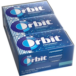 Orbit Peppermint Sugarfree Gum - 12 packs