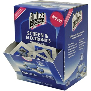 Endust Screen/Electronics Clean Wipes