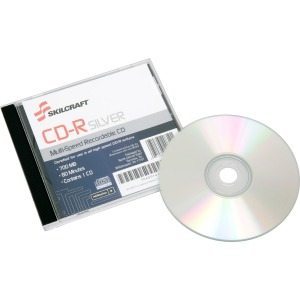 SKILCRAFT CD Recordable Media - CD-R - 52x - 700 MB - 1 Pack Jewel Case