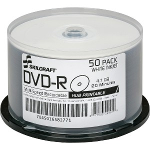 SKILCRAFT DVD Recordable Media - DVD-R - 16x - 4.70 GB - 50 Pack Spindle