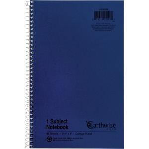 Ampad Oxford College Rule Recycled Wirebound Notebook