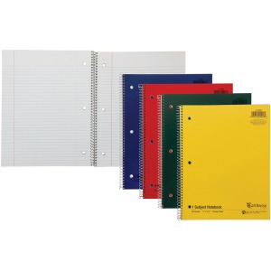 Ampad Oxford Earthwise Recycled 3HP Notebooks - Letter