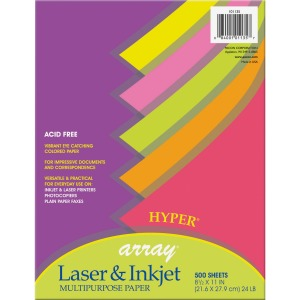 Pacon Laser, Inkjet Bond Paper - 10 Recycled