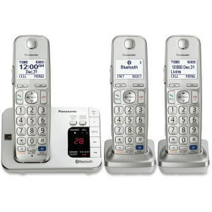 Panasonic Link2Cell KX-TGE263S DECT 6.0 1.90 GHz Cordless Phone - Silver