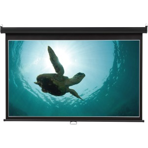 "Quartet® Wide Format Projection Screen, 16:9 Aspect Ratio, 52"" x 92"" , Wall Mount"