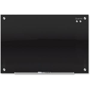 "96"" (8 ft) Width x 48"" (4 ft) Height - Black Tempered Glass Surface - Rectangle - Horizontal/Vertical - Mount - 1 Each"