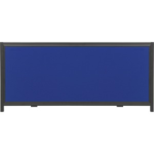 "Quartet® Show-It!® Display System Header Panel, 24"" x 10"", Double-sided, Blue/Gray"