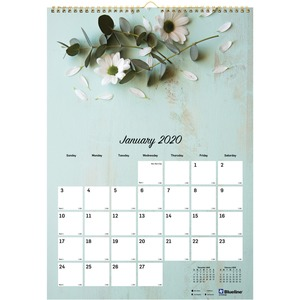 Rediform Romantic Flowers Mthly Wall Calendar