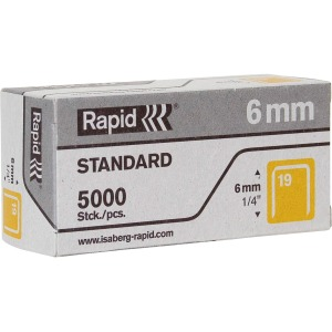 "Rapid R23 No.19 Fine Wire 1/4"" Staples"