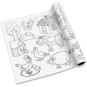 Redi-Tag Self-adhesive Kid's Coloring Pages