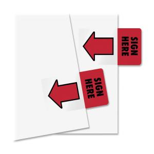 Redi-Tag Sign Here Red Arrow Page Flags